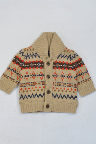 New Gap Beige Winter Ribbed Jersey Unisex 3-6 months