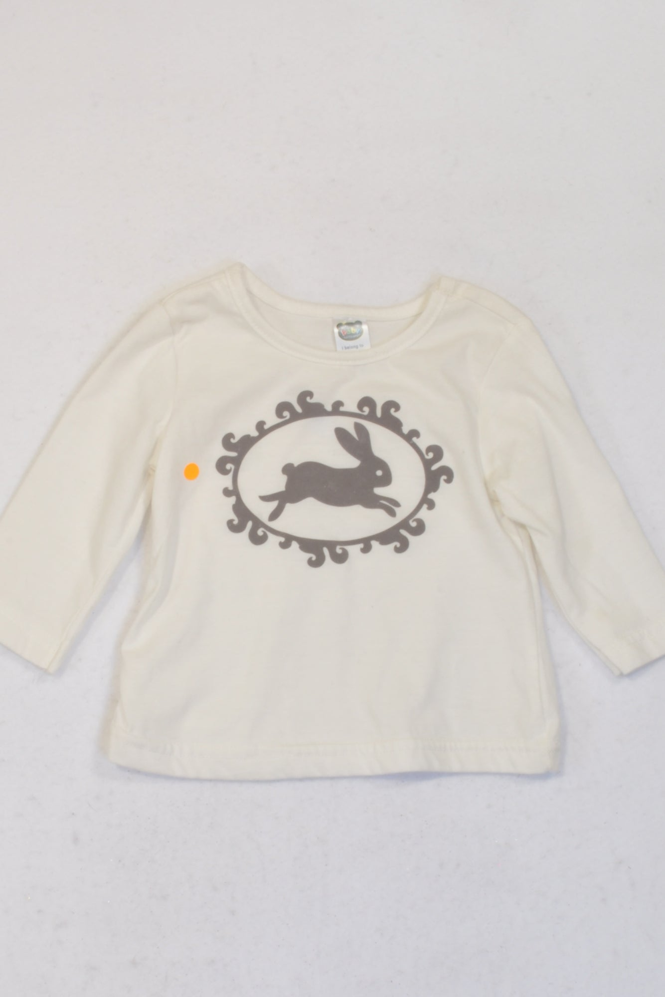 Ackermans Ivory Bunny Long Sleeve T-shirt Girls 3-6 months