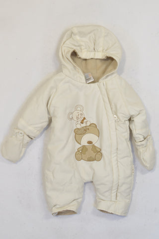 Edgars Cream Mouse & Bear Snow Suit Unisex N-B