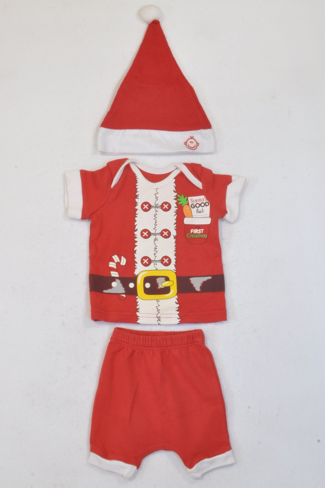 Christmas Outfit.Woolworths Red White My First Christmas Outfit Unisex 0 3 Months