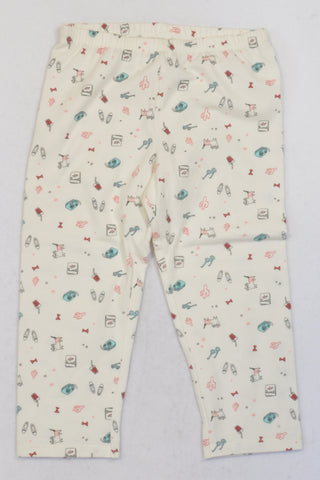 New Woolworths Ivory Accessory Leggings Girls 8-9 years