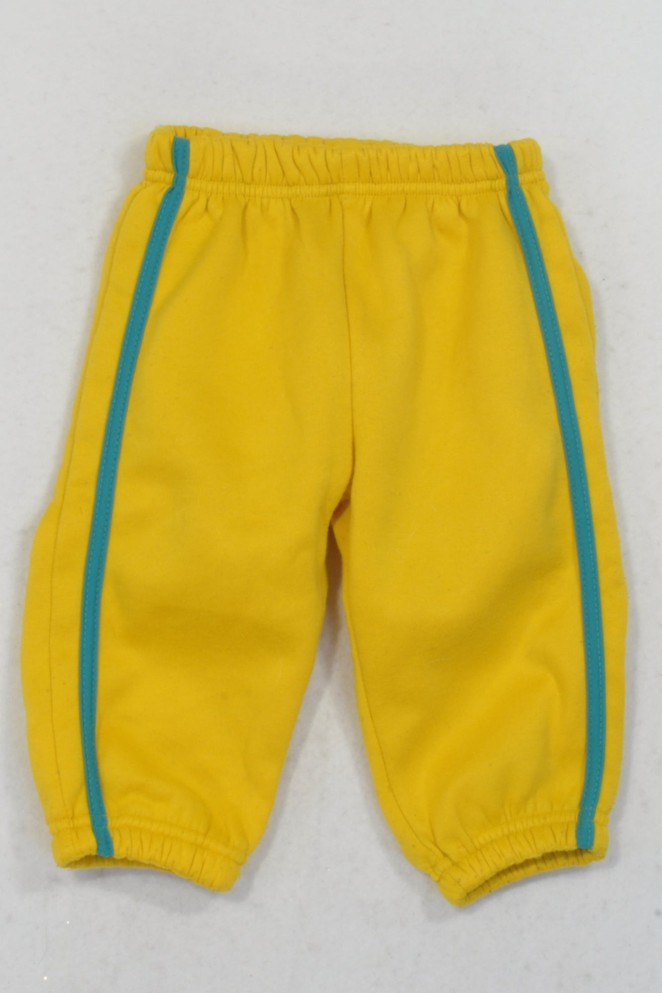 Ackermans Yellow & Turquoise Stripe Track Pants Boys 6-12 months