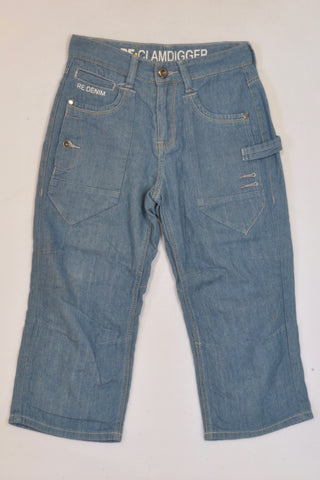Woolworths Lightweight Denim Clamdigger Jeans Boys 10-11 years