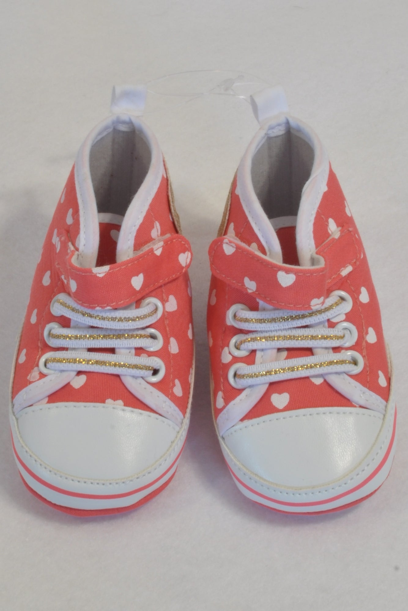 New Ackermans Coral Heart Hightop Shoes Girls 3-6 months