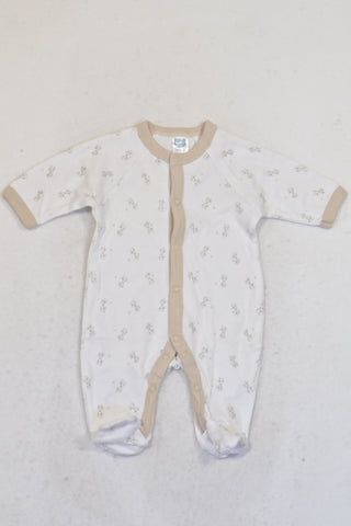 New Ackermans Cream & White Giraffe Onesie Unisex N-B