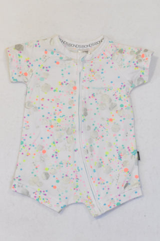New Bonds Multi Colored Speckled Romper Girls 6-12 months