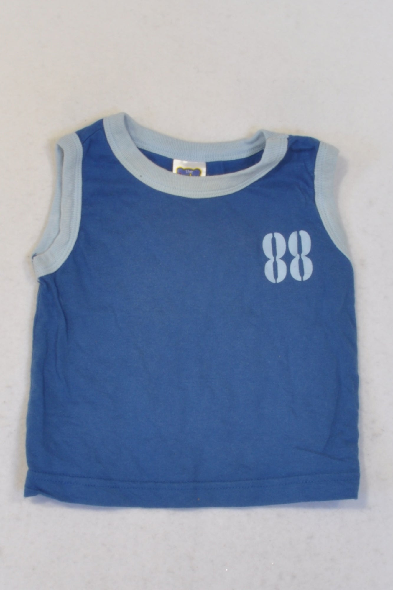 Ackermans Basic Blue 88 Tank Top Boys 3-6 months