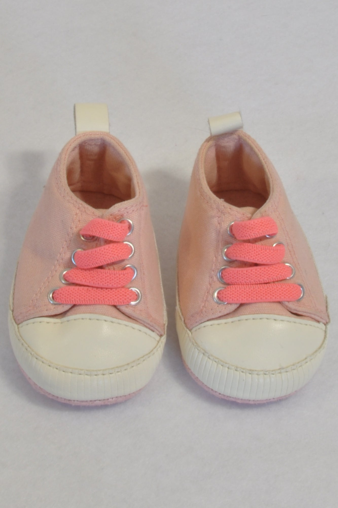 New Cotton On Pink Lumo Lace Shoes Girls N-B