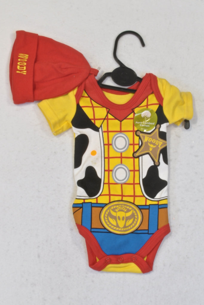 e26882594 New Woolworths Cowboy Woody Baby Grow   Beanie Outfit Boys N-B ...