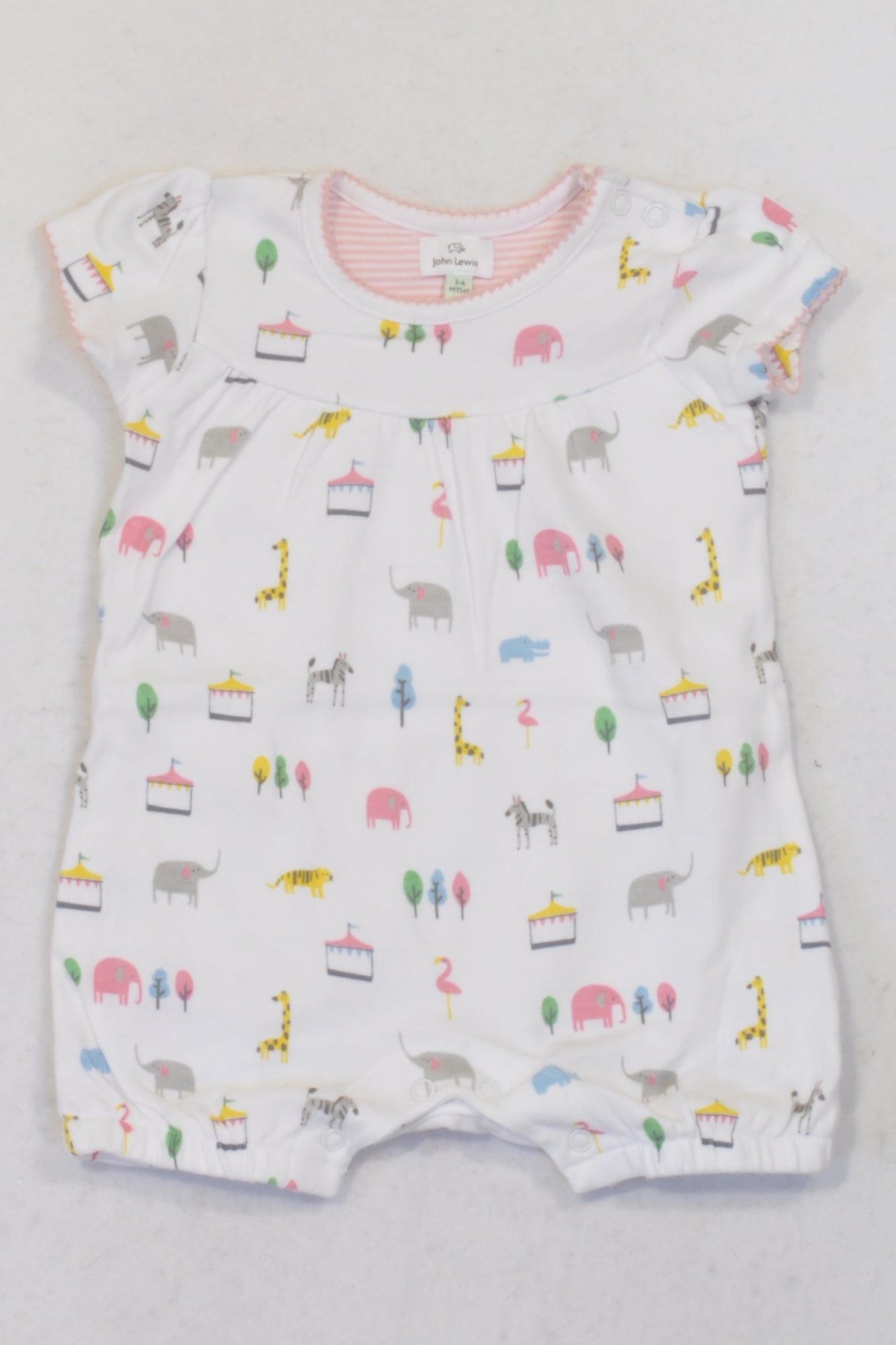 01952734ff99 John Lewis White Circus Romper Girls 3-6 months – Once More