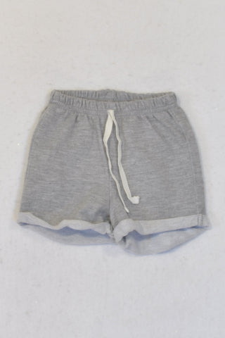 New Pick 'n Pay Grey Roll Up Shorts Boys 0-3 months