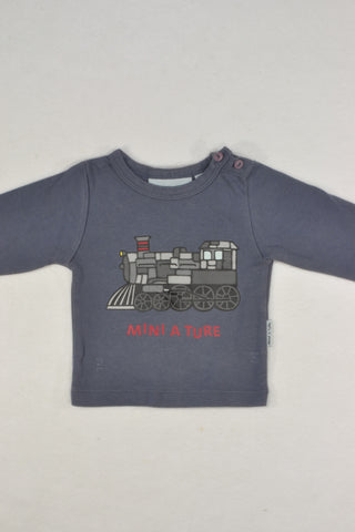 Mini A Ture Copenhagen Steam Train Top Boys 2-4 months