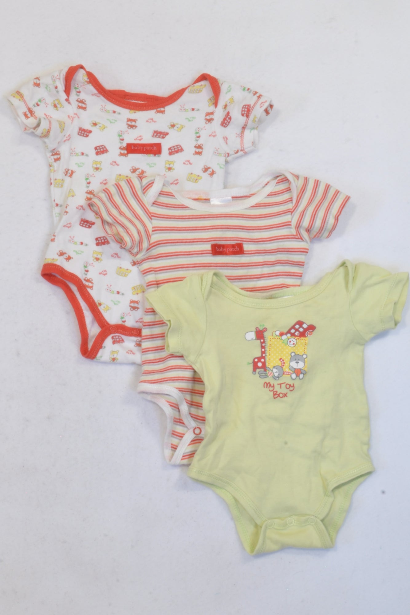 Baby Patch My Toy Box 4 Pack Outfit Unisex 3-6 months