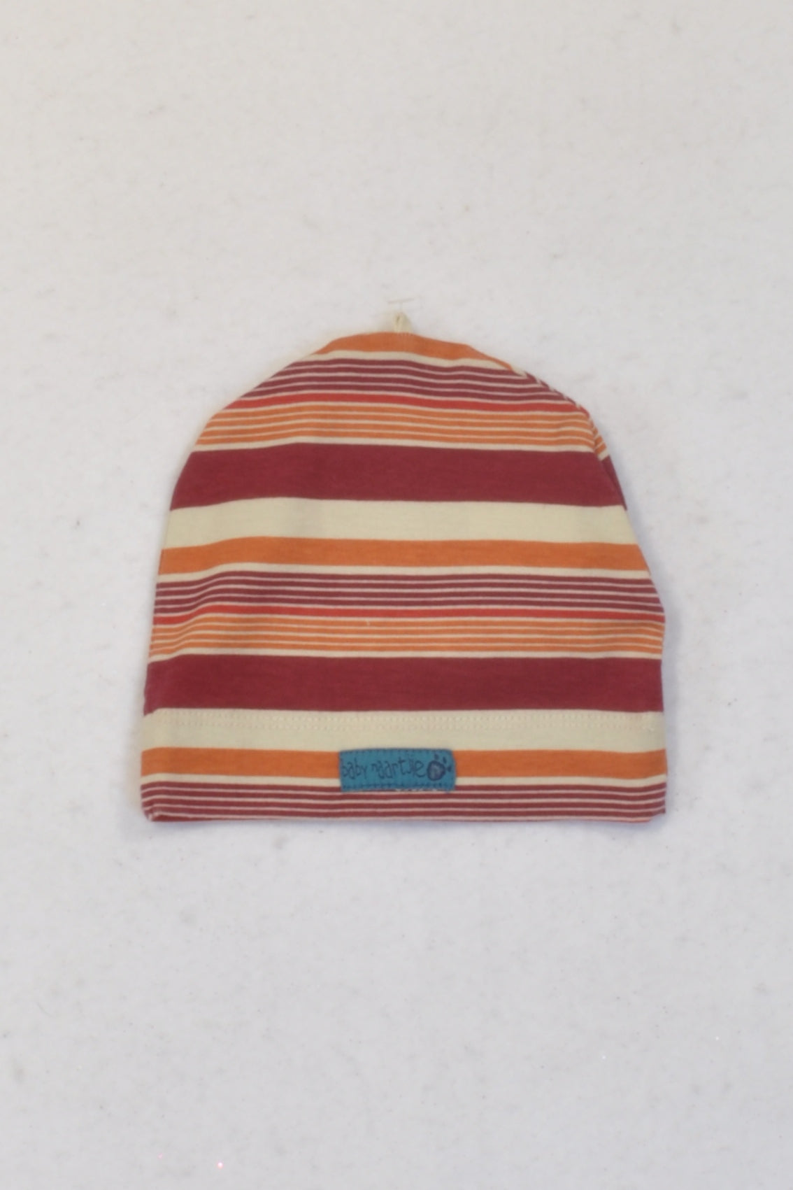 f5ac4a8b529 New Naartjie Orange   Red Striped Beanie Unisex 3-6 months – Once More