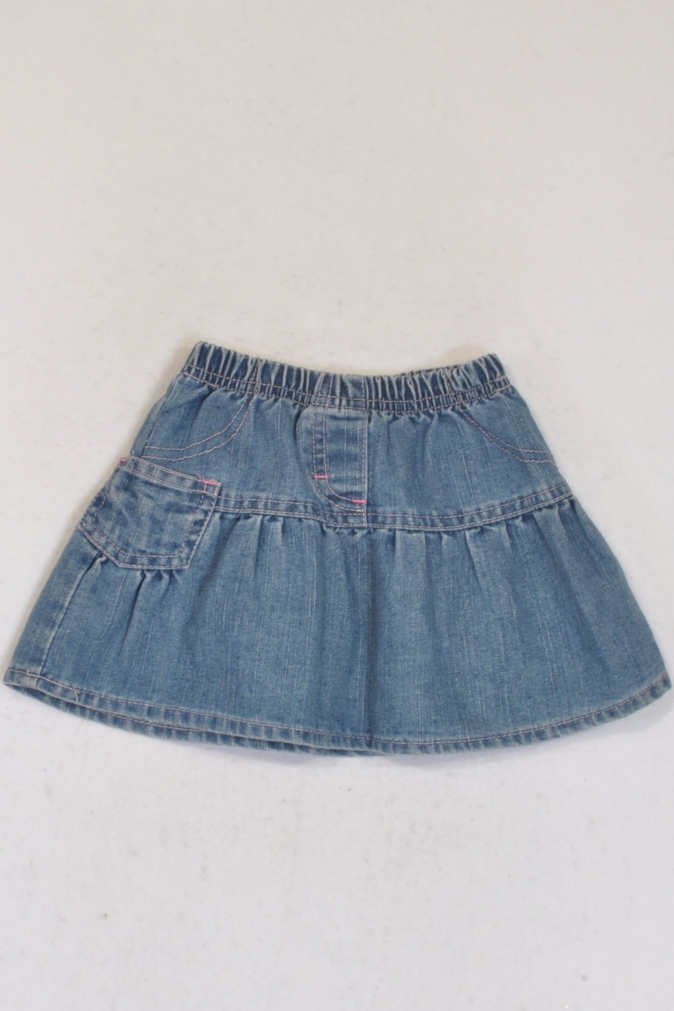 Ackermans Elastic Denim Pleated Skirt Girls 3-6 months