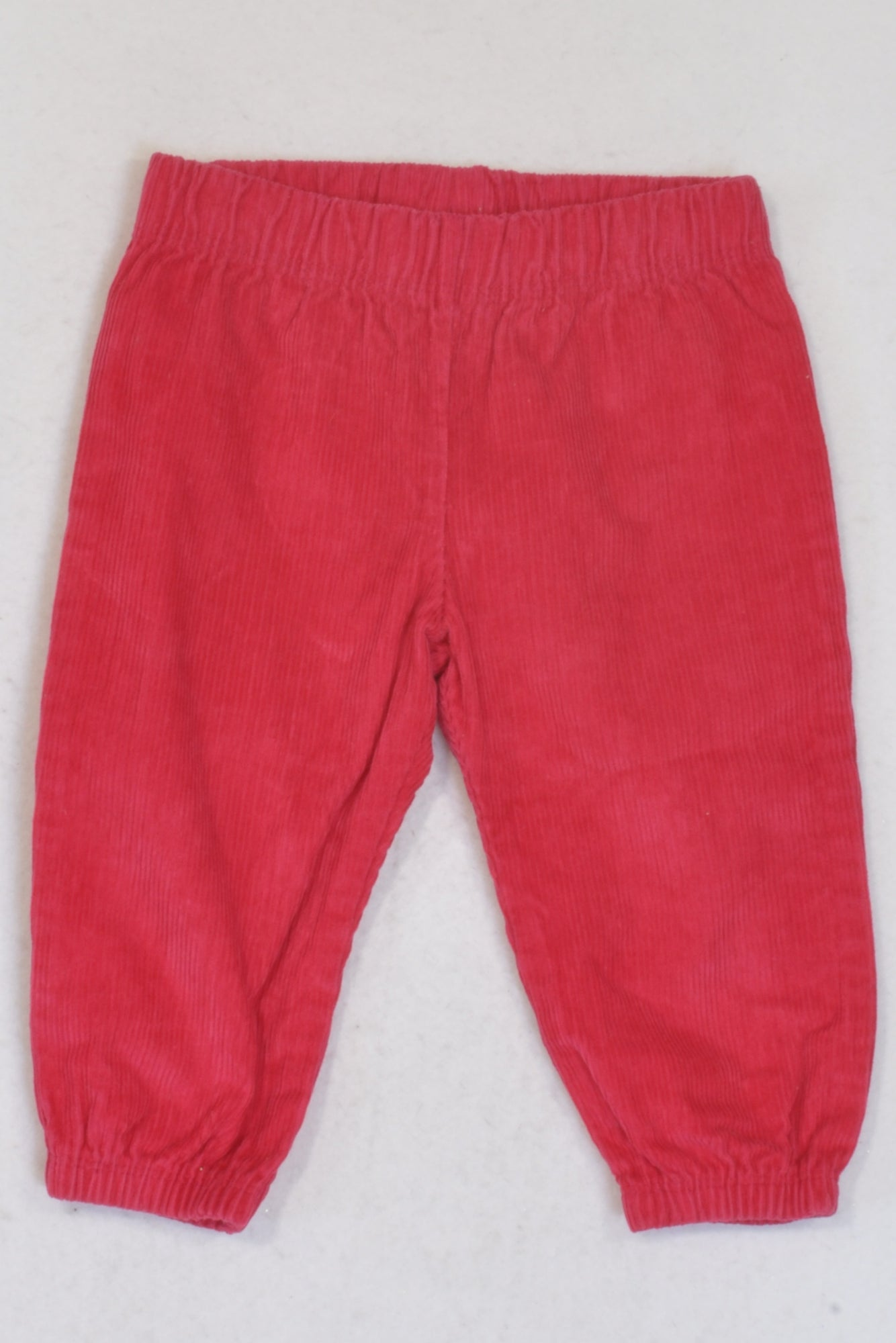 Woolworths Cerise Pink Cuffed Corduroy Pants Girls 6-12 months