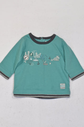 Sergent Major Mint Travaux Publics Top Boys 3-6 months