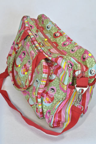 Lou Harvey Pink Russian Doll Nappy Bag Girls N-B to 1 year