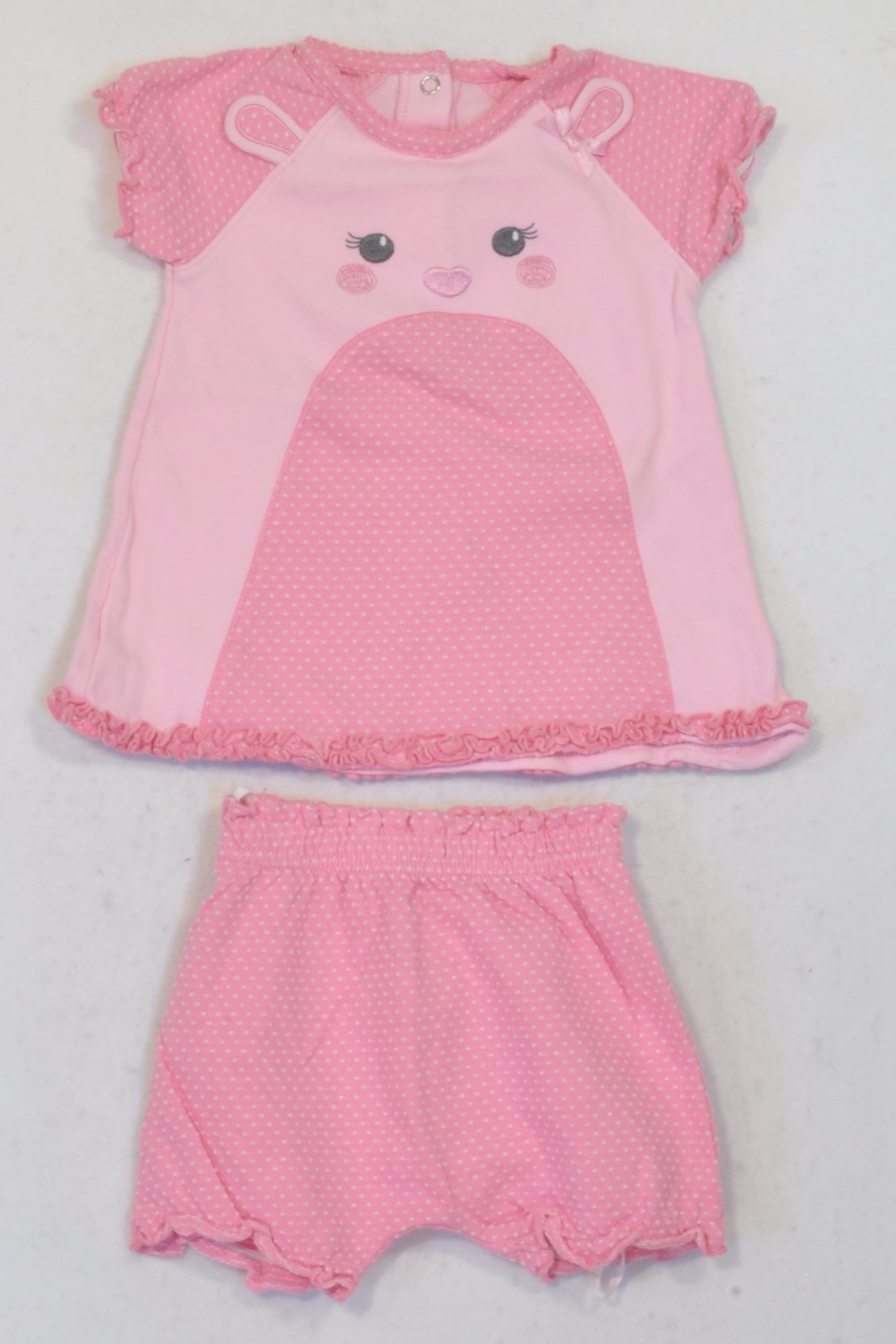 Woolworths Rose Pink Textured Dress & Harem Shorts Outfit Girls 3 6