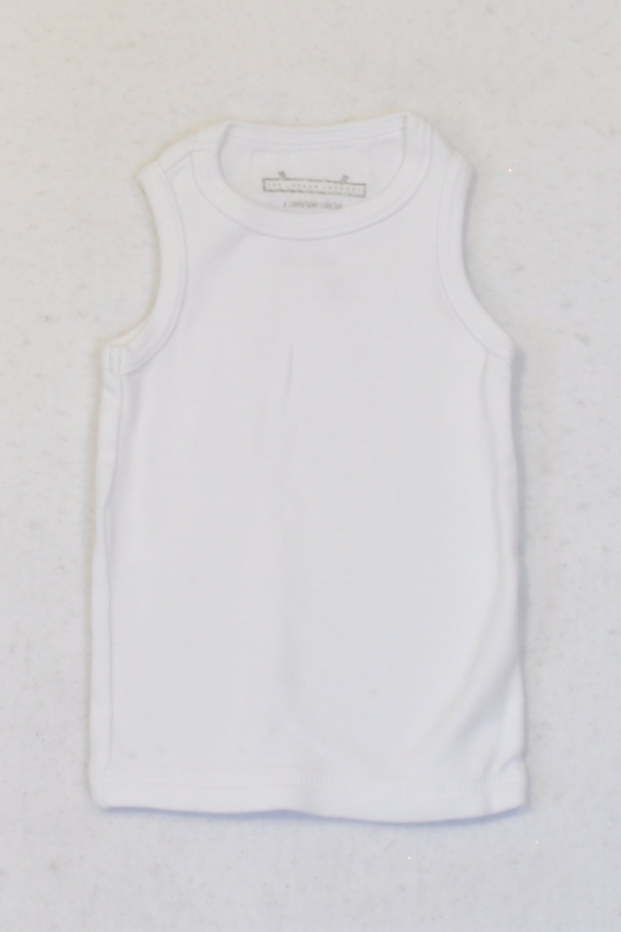 The London Laundry White Basic Tank Top Unisex 3-6 months