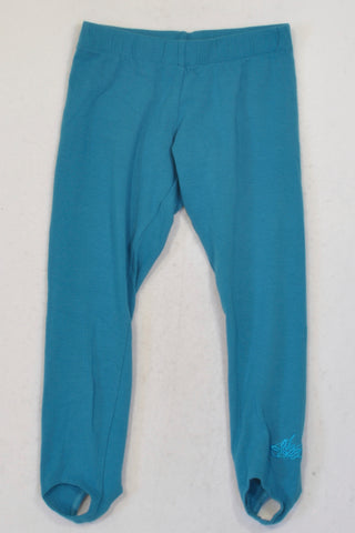 Lizzy Turquoise  Leggings Girls 6-7 years