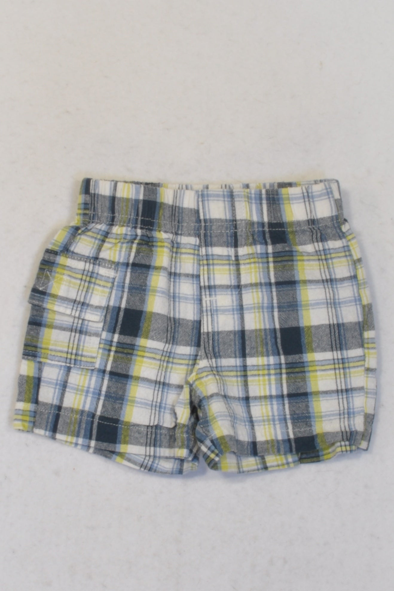 Ackermans Green & Navy Madras Shorts Boys 0-3 months