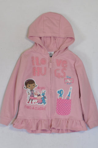 George Pink Doc Mcstuffins Hoodie Girls 2-3 years