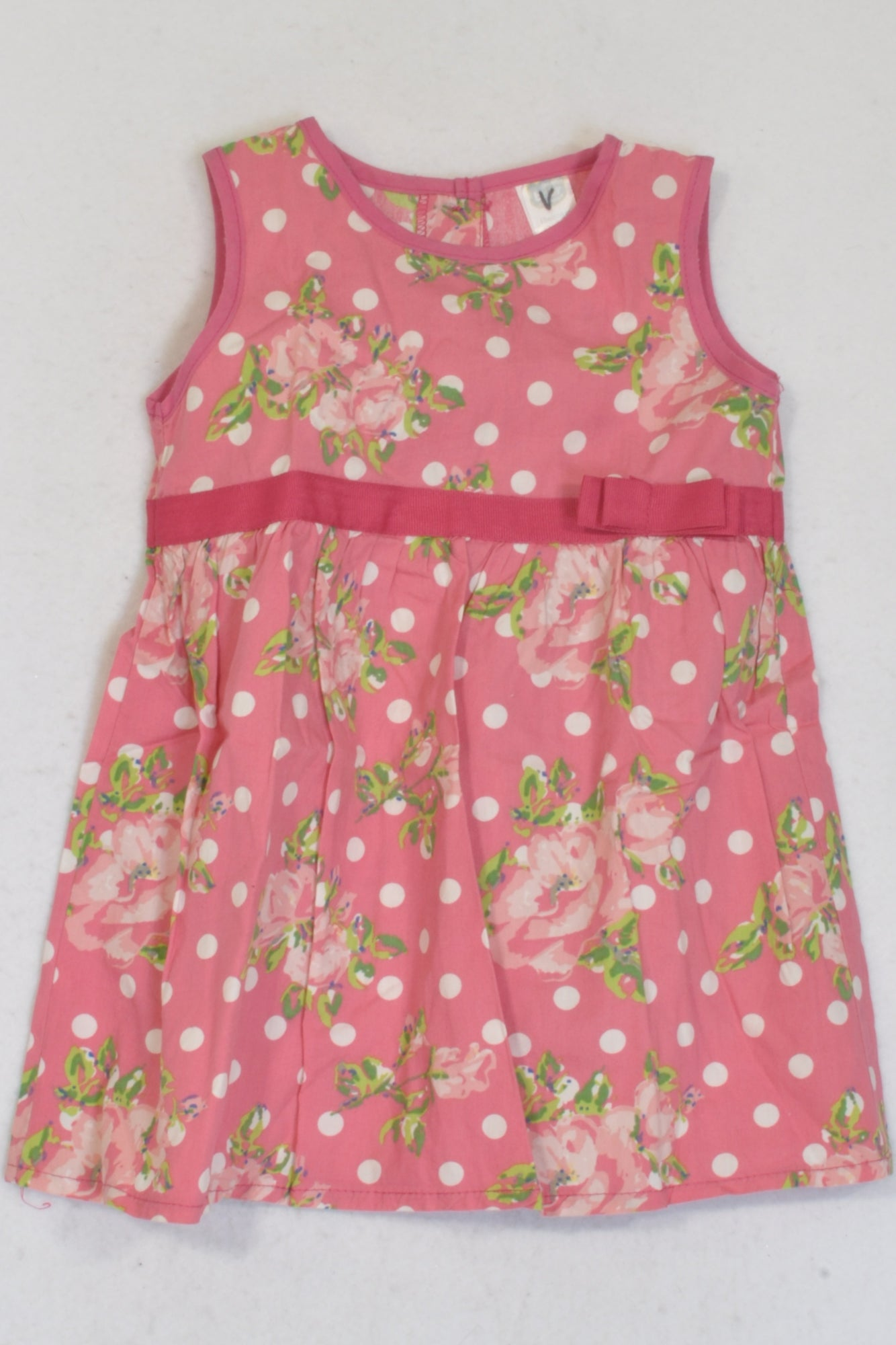 Ackermans Rose Pink Floral Dress Girls 12-18 months