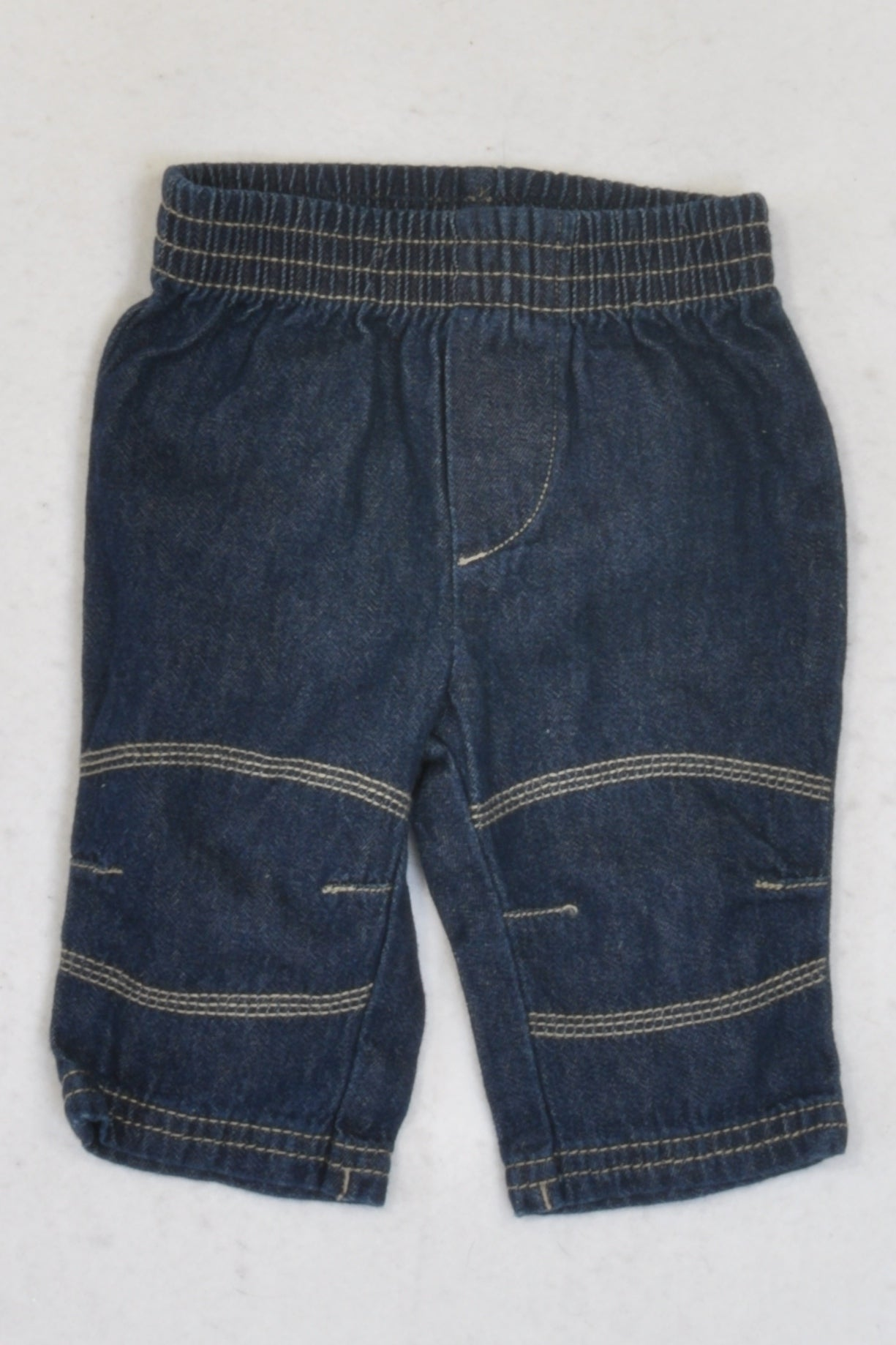 Woolworths  Dark Denim Elasticated Jeans Boys 0-3 months