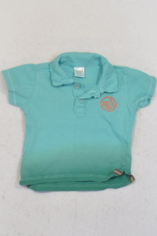 Naartjie Blue & Green Ombre Golf Shirt Boys N-B