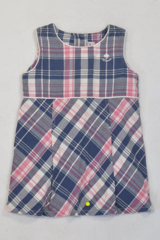 Pink & Purple Plaid Dress Girls 2-3 years