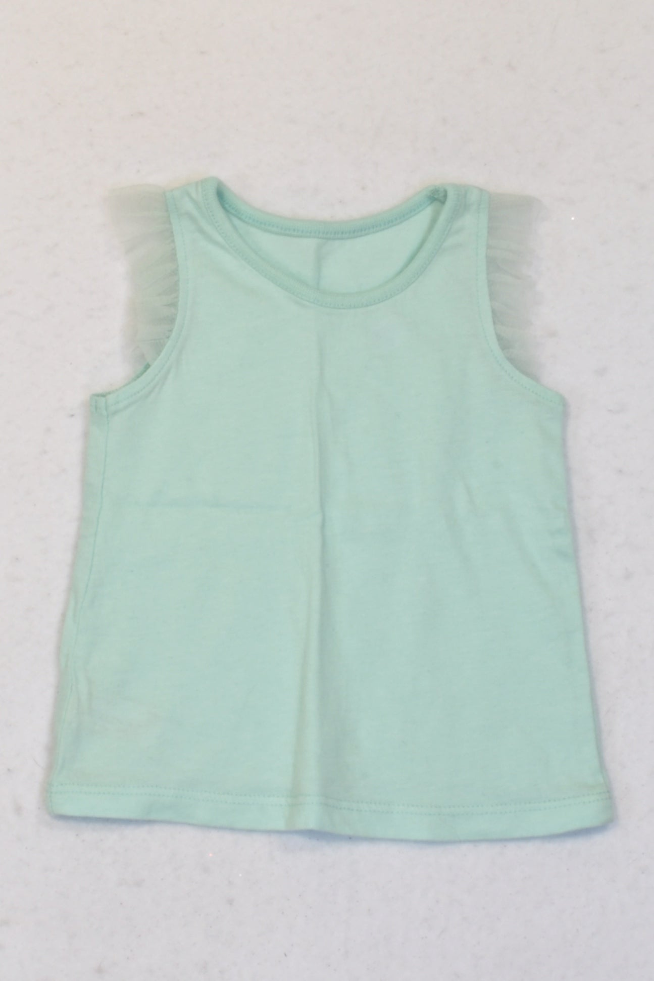 Woolworths Mint Tulle Trim Tank Top Girls 0-3 months
