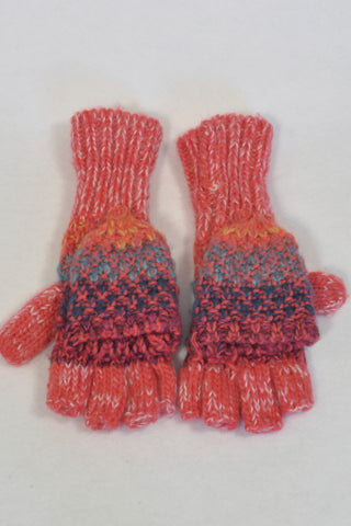 Unknown Brand Pink & Multi-colour Knit Mittens Girls 6-7 years