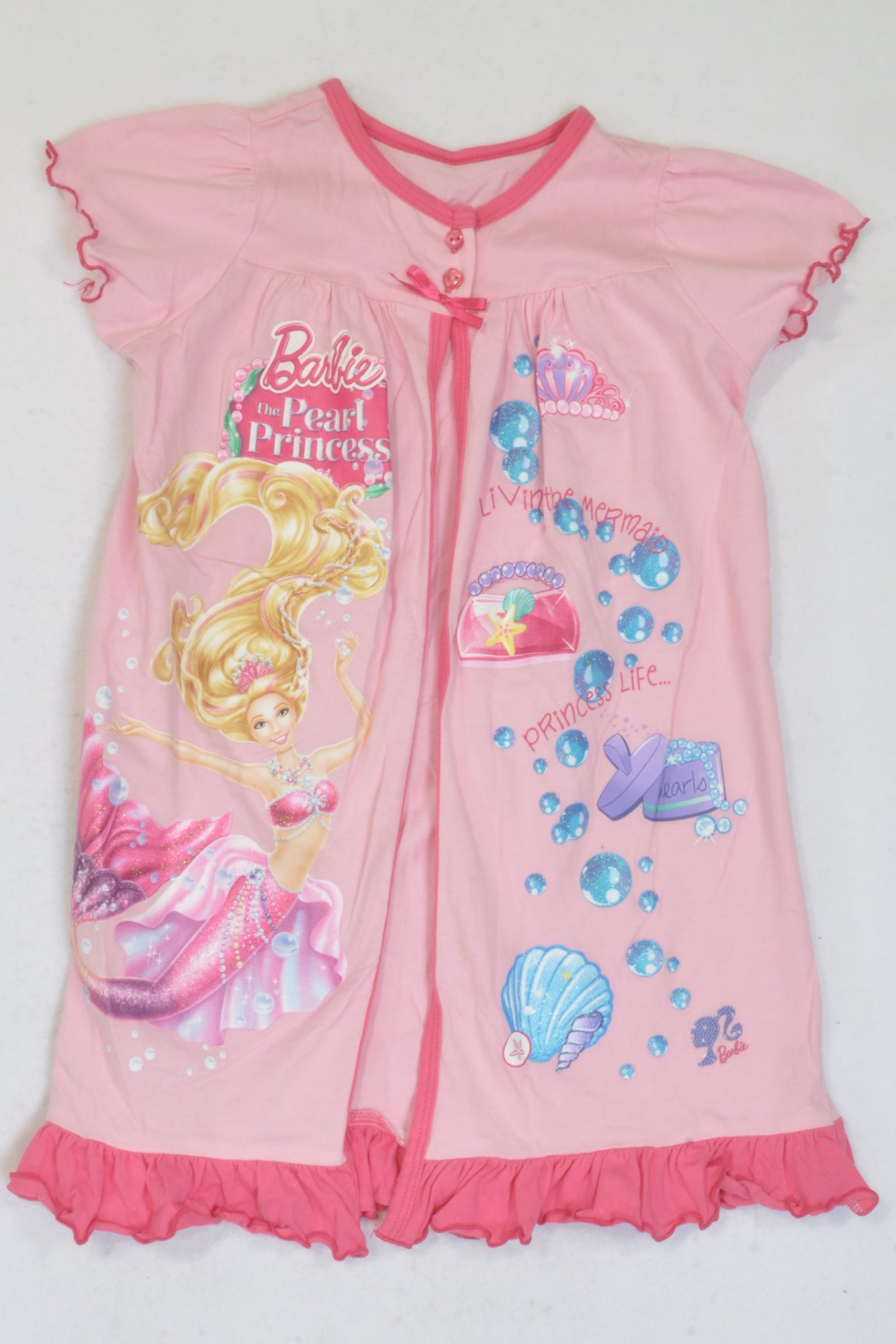 Woolworths Barbie Pearl Princess Summer Dressing Gown Girls 3-4 ...