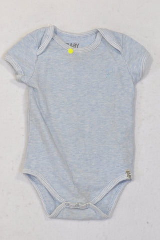 Cotton On Light Blue Heathered Baby Grow Unisex 6-12 months