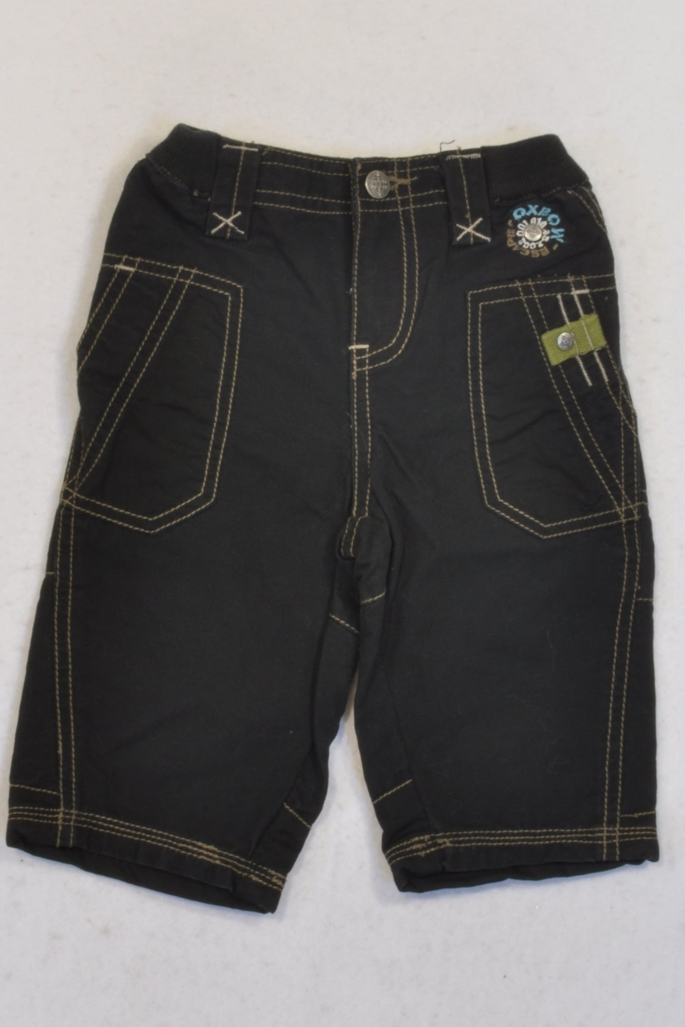 Oxbow Dark Brown Banded Pants Boys 3-6 months