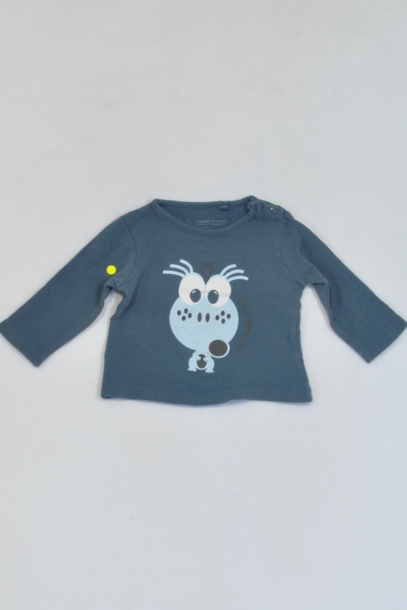 Cuddles & Smiles Blue Frog Romance T-shirt Girls 0-3 months