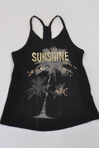 New PLACE Sunshine Palm Tree Racer Tank Top Girls 10-11 years