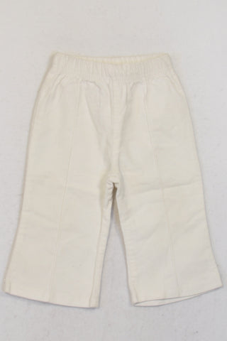 Ackermans White Velour Pants Girls 6-12 months