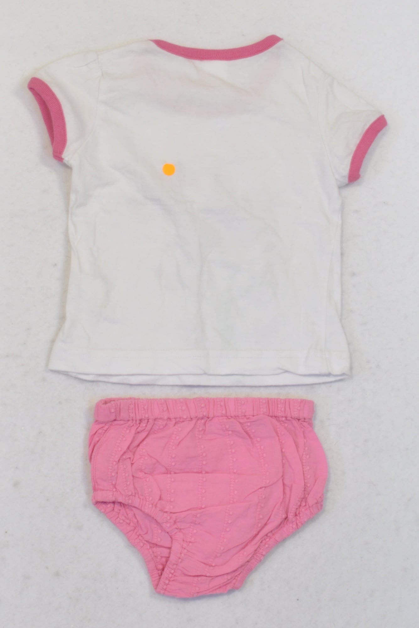 White Tweety Bird T-Shirt & Bloomers Outfit Girls 3-6 months