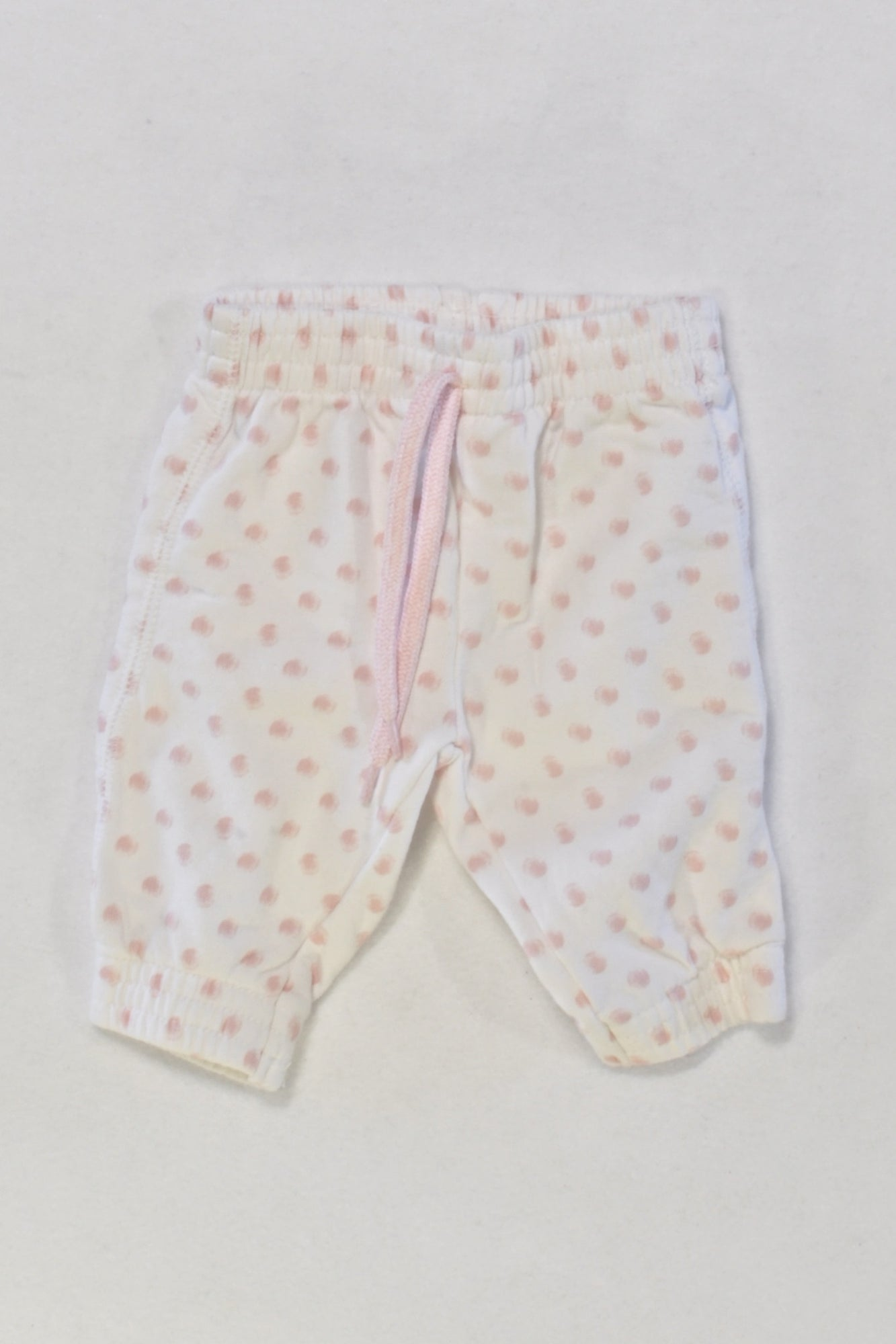 Woolies Pink Dot Track Pants Girls 0-3 months