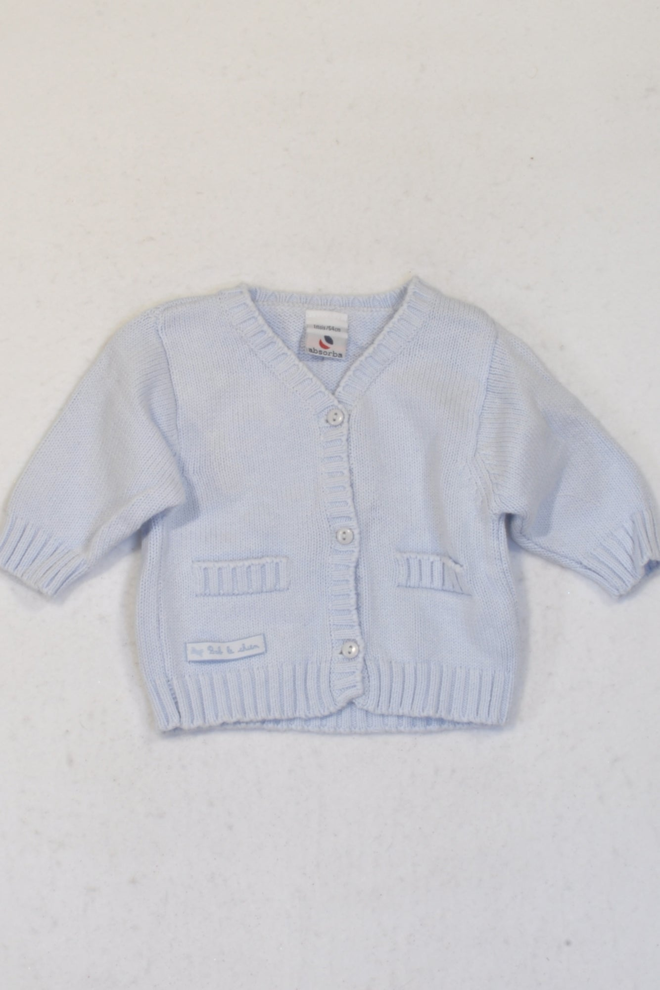 Absorba Blue Knitted Cardigan Unisex N-B