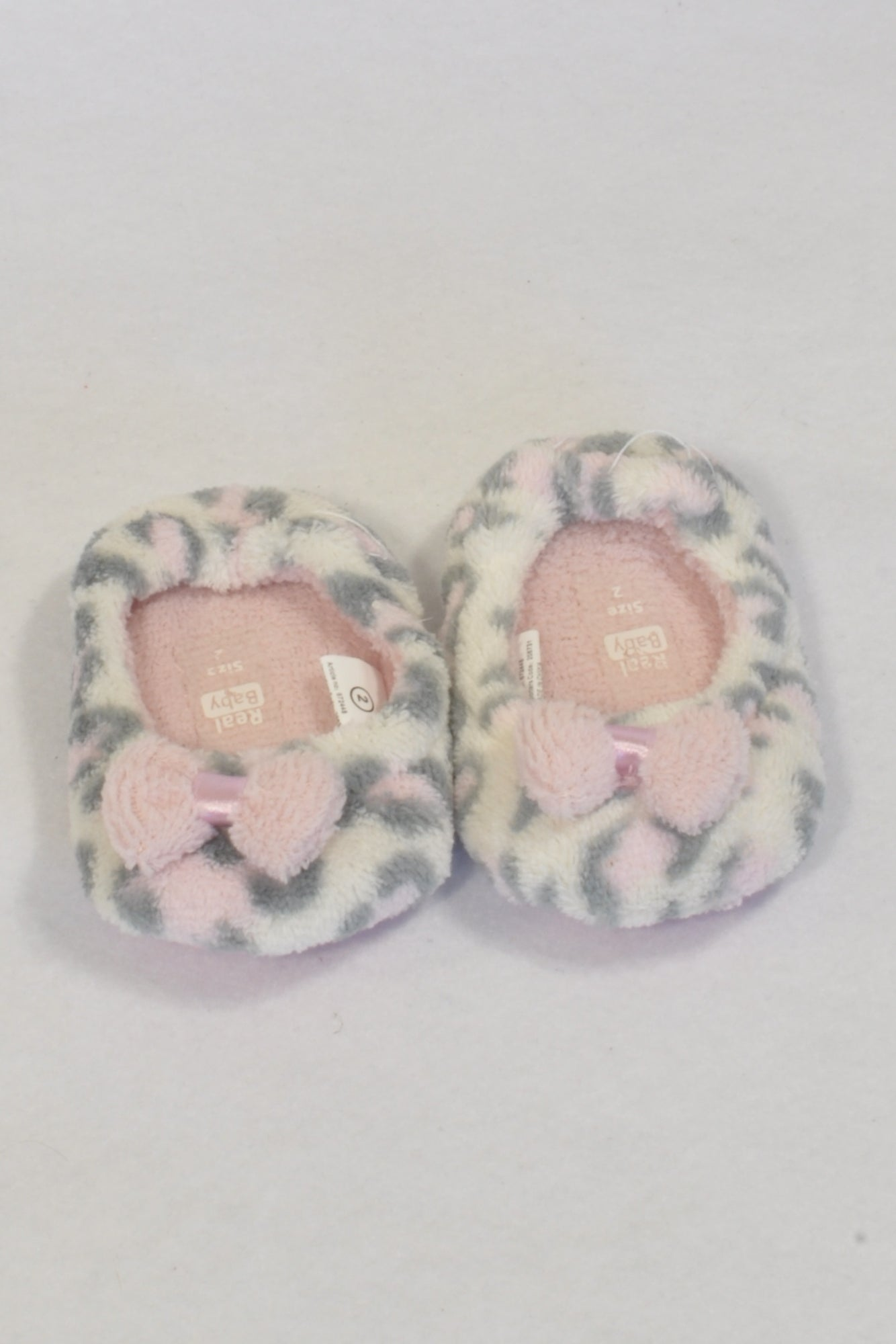 New Pick n Pay Pink Leopard Print Size 2 Slippers Girls 6 9 months