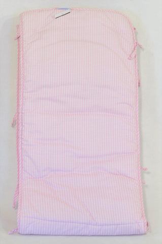 Treehouse Pink Checkered Cot Bumper Decor Girls N-B to 2 years