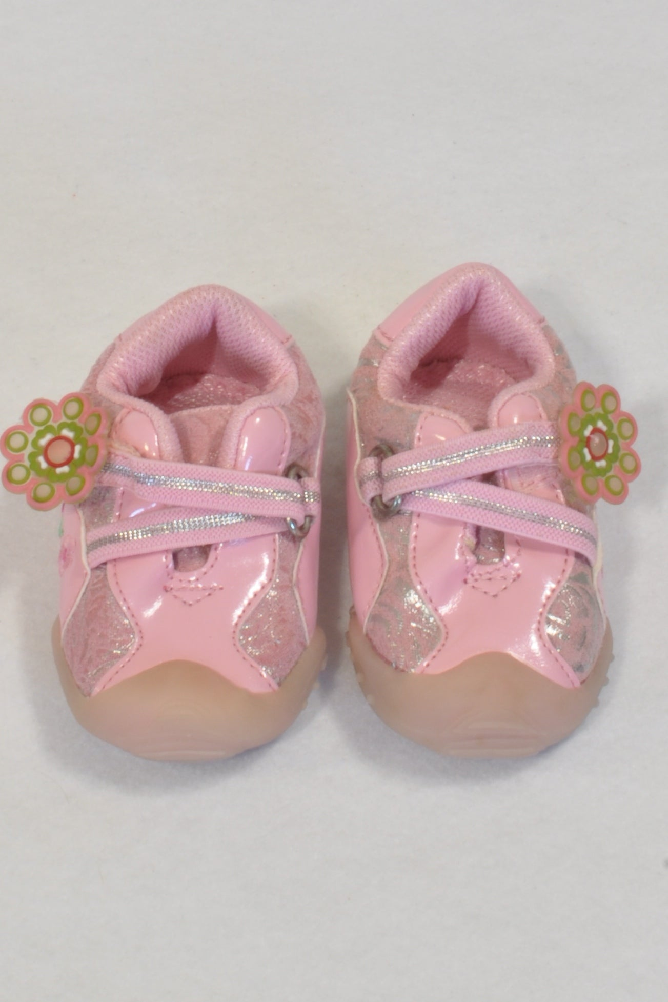 New Woolworths Pink Flower Size 2 Tekkies Girls 6-9 months