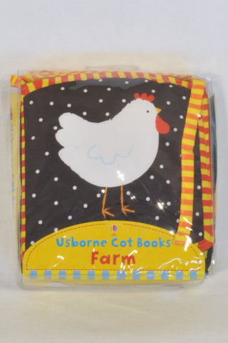 New Usborne Farm Animal Cot Book Accessory Unisex N-B to 1 year