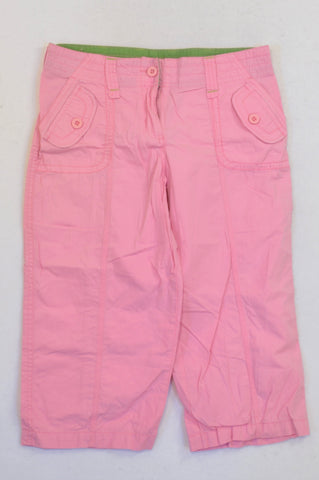 Destiny Pink Lightweight Cargo 3/4 Pants Girls 12-13 years