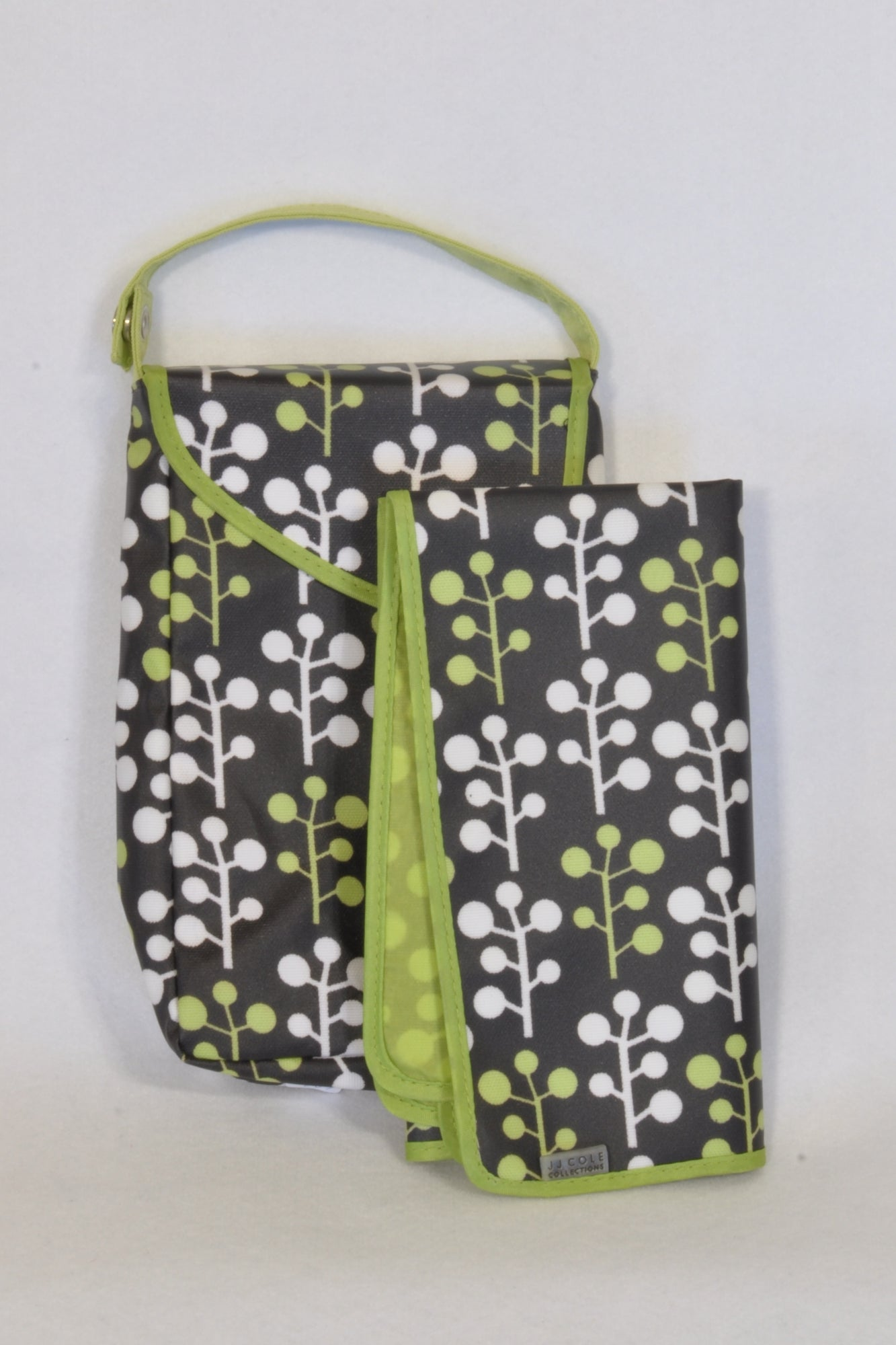JJ Cole Collection Brown & Green Clutch Bag & Changing Mat Unisex N-B to 2 years