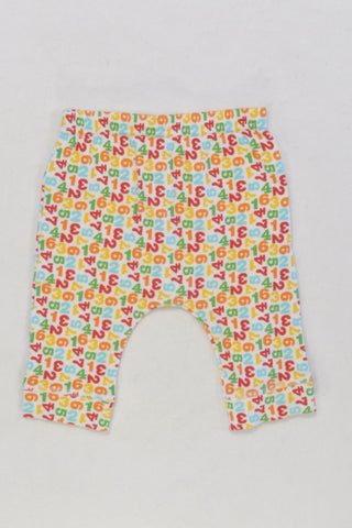 Woolies Numbers Leggings Unisex 0-3 months