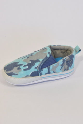 Blue Camo Slip-On shoes Boys 9-12 months